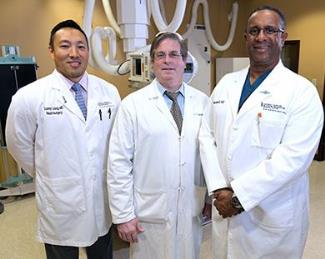 Spine Surgeons Dr. Liang, Dr. Solomon and Dr. Bethel