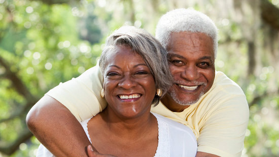 Older Couple Happy About Life