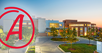 A grade shown on an image of Charles Regional Medical Center