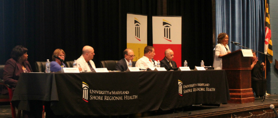 Shore Regional Health officials Panel sit at the stage