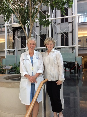 photo of Karyn Staton and Katherine H. Tkaczuk, MD
