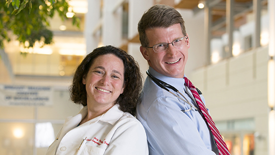 UMMC Congenital Heart Disease leaders Stacy Fisher, MD, and Geoff Rosenthal, MD, PhD