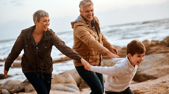 Active grandparents with grandson - time for hip replacement